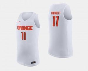White Oshae Brissett Orange Jersey #11 For Men College Basketball