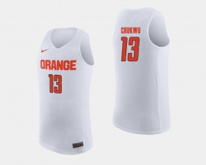 Paschal Chukwu Syracuse University Jersey College Basketball White For Men's #13