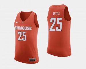 Mens Tyus Battle Orange Jersey #25 College Basketball Orange