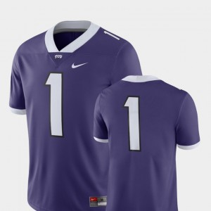 College Football Men Texas Christian University Jersey 2018 Game Nike Purple #1