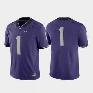 College Football Nike #1 Game Mens Purple Texas Christian Jersey