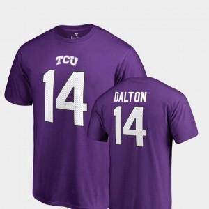 Andy Dalton TCU T-Shirt Name & Number Mens College Legends #14 Purple