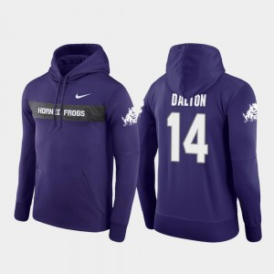 Sideline Seismic Andy Dalton TCU Horned Frogs Hoodie For Men #14 Nike Football Performance Purple