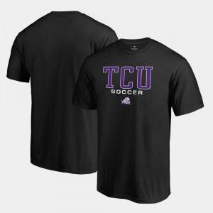 Horned Frogs T-Shirt Black True Sport For Men's Big & Tall Soccer