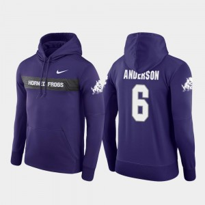 Sideline Seismic Nike Football Performance Darius Anderson TCU Hoodie #6 Purple Mens