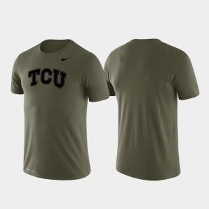 Tonal Logo Legend For Men's Green Horned Frogs T-Shirt Performance