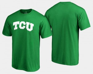 Kelly Green St. Patrick's Day Mens White Logo Big & Tall TCU T-Shirt