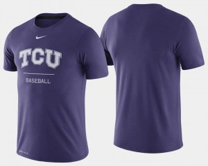 College Baseball For Men Horned Frogs T-Shirt Dugout Performance Purple
