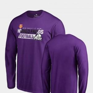 Mens Purple Audible Long Sleeve Fanatics Branded 2018 Cheez-It Bowl Bound Texas Christian University T-Shirt