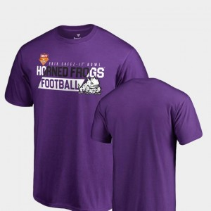 Audible Fanatics Branded Purple Horned Frogs T-Shirt For Men's 2018 Cheez-It Bowl Bound
