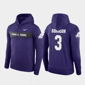 Purple Sideline Seismic #3 Shawn Robinson TCU Hoodie Men's Nike Football Performance