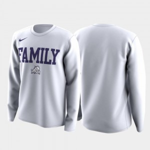 Men March Madness Legend Basketball Long Sleeve Family on Court TCU T-Shirt White