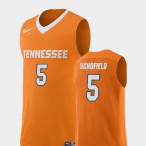 Admiral Schofield Vols Jersey Replica College Basketball Orange For Men #5