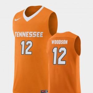 Brad Woodson Tennessee Jersey Mens #12 Replica Orange College Basketball