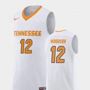 #12 Brad Woodson UT Jersey College Basketball White Replica For Men