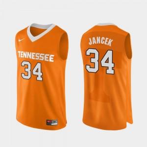 Authentic Performace Brock Jancek Tennessee Vols Jersey #34 Mens Orange College Basketball