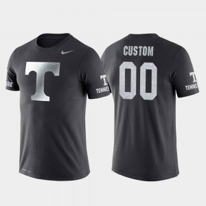 Anthracite Travel Tennessee Vols Custom T-Shirts College Basketball Performance For Men's #00
