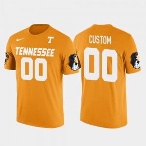 Orange Cotton Football Future Stars Tennessee Vols Customized T-Shirts #00 Men's