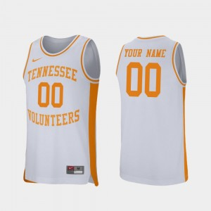 Retro Performance College Basketball White #00 Men's Tennessee Vols Custom Jerseys