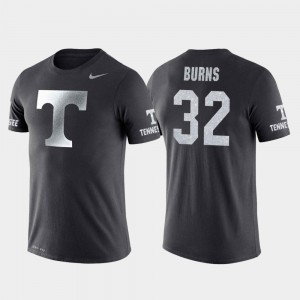 #32 Men's College Basketball Performance Travel Anthracite D.J. Burns Tennessee T-Shirt