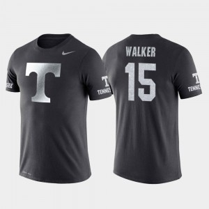 Travel Derrick Walker Tennessee T-Shirt #15 College Basketball Performance Anthracite Mens