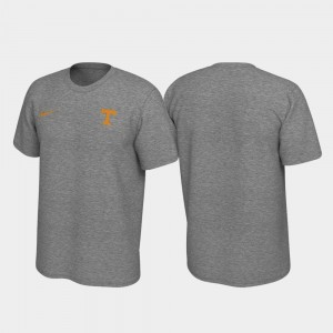 Heathered Gray Tennessee Volunteers T-Shirt Men's Legend Left Chest Logo
