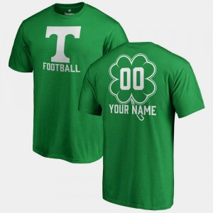 Kelly Green #00 Tennessee Volunteers Customized T-Shirt St. Patrick's Day Fanatics Big & Tall Dubliner Mens