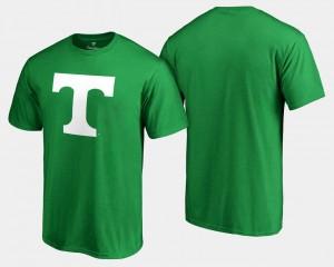 St. Patrick's Day White Logo Big & Tall Men's Tennessee Vols T-Shirt Kelly Green
