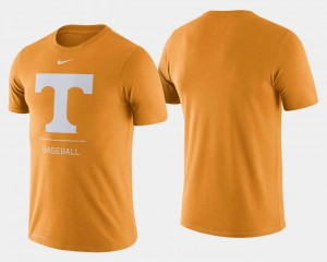 College Baseball Tennessee T-Shirt Dugout Performance Tennessee Orange For Men's