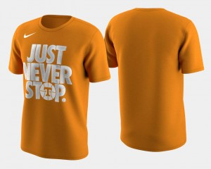 March Madness Selection Sunday Tennessee Orange Men's Tennessee Volunteers T-Shirt Basketball Tournament Just Never Stop