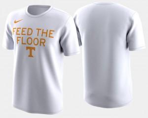 Vols T-Shirt Basketball Tournament 2018 March Madness Bench Legend Performance White Men's
