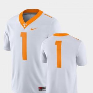For Men's College Football White 2018 Game Nike #1 UT Jersey