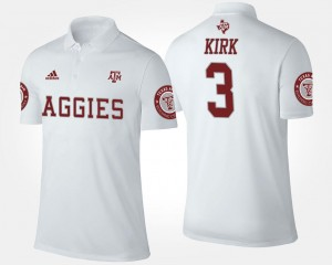 White Name and Number Men's Christian Kirk Texas A&M Polo #3