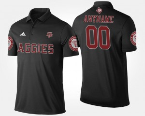 Men Name and Number Aggies Customized Polo #00 Black