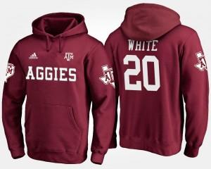 Name and Number #20 James White Aggies Hoodie Men Maroon