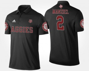 Mens Black Name and Number #2 Johnny Manziel Texas A&M University Polo
