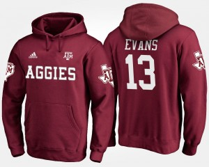 Maroon Mike Evans Texas A&M Hoodie For Men's Name and Number #13
