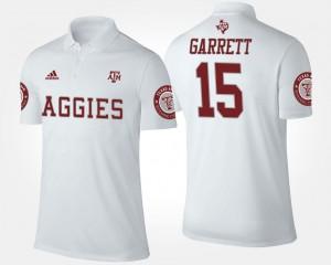 White Name and Number For Men's Myles Garrett Texas A&M University Polo #15