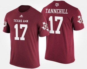 Maroon Name and Number Men #17 Ryan Tannehill Texas A&M University T-Shirt