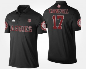 Men #17 Ryan Tannehill Aggies Polo Name and Number Black