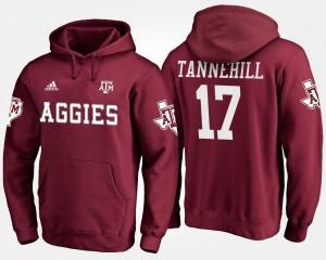 Mens #17 Maroon Name and Number Ryan Tannehill Texas A&M University Hoodie