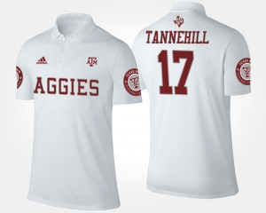 Ryan Tannehill TAMU Polo #17 Name and Number For Men White