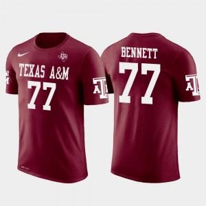 #77 Future Stars For Men Michael Bennett TAMU T-Shirt Crimson Philadelphia Eagles Football