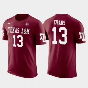 Future Stars #13 Mens Crimson Mike Evans Texas A&M University T-Shirt Tampa Bay Buccaneers Football