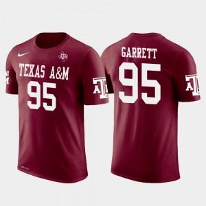 Crimson Cleveland Browns Football Myles Garrett Texas A&M University T-Shirt #95 Future Stars Mens