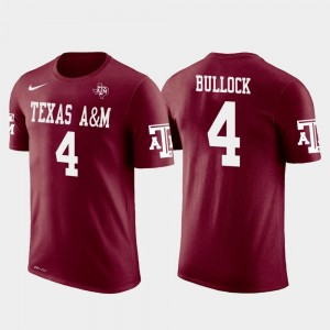 Men Future Stars Randy Bullock Texas A&M Aggies T-Shirt Crimson #4 Cincinnati Bengals Football