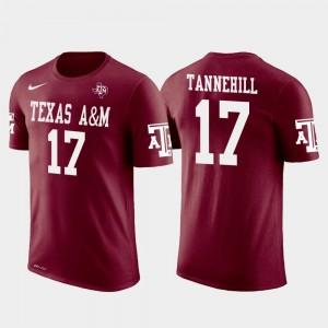 Future Stars Ryan Tannehill Texas A&M University T-Shirt Miami Dolphins Football #17 Mens Crimson
