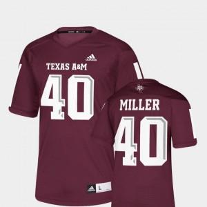 Maroon NFLPA Alumni Chase Replica Adidas For Men Von Miller TAMU Jersey #40