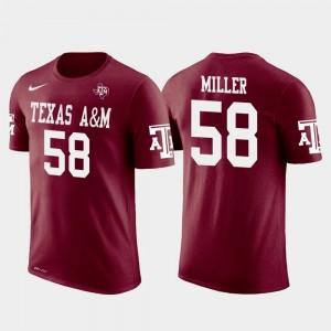 Denver Broncos Football For Men #58 Von Miller Texas A&M Aggies T-Shirt Crimson Future Stars