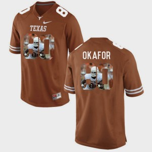 Men's Brunt Orange Alex Okafor Longhorns Jersey Pictorial Fashion #80